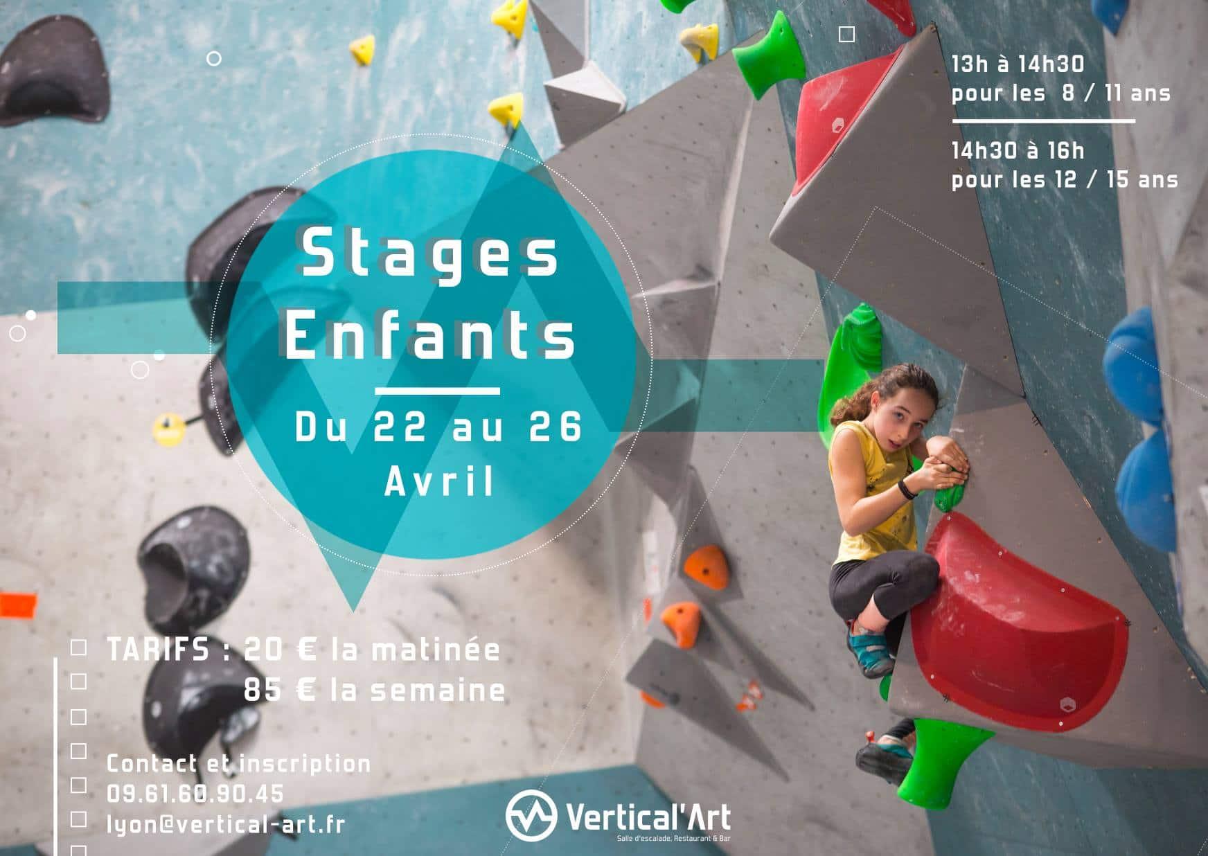 Stage d'escalade Vertical'art- Stage Vertical'art Lyon - Vacances d'hiver - Fevrier - Sport à proximité de Lyon - Escalade stage à Lyon pour enfants