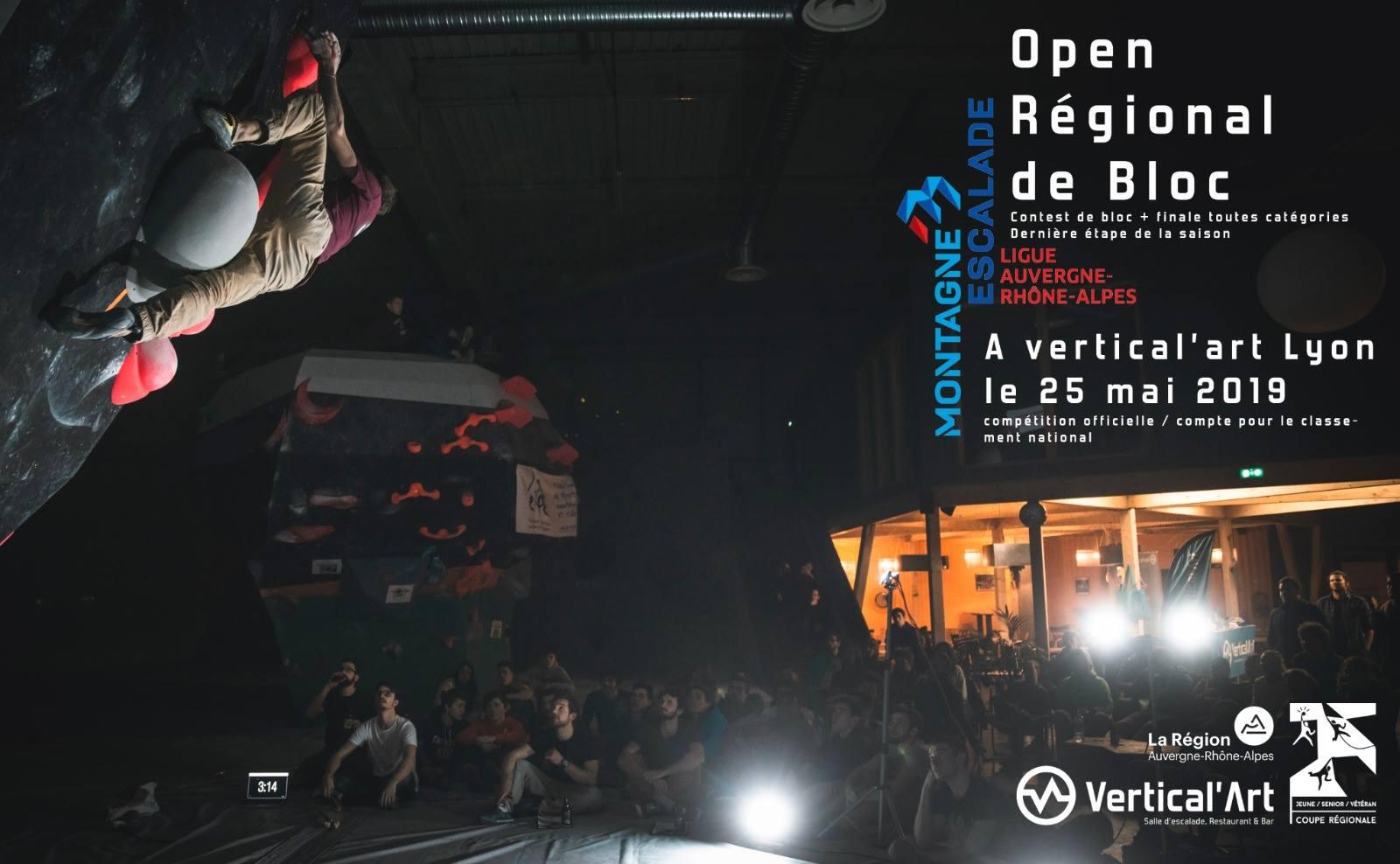 open regional de bloc - FFME -Vertical'art- Vertical'art lyon - salle d'escalade de bloc - restaurant- bar