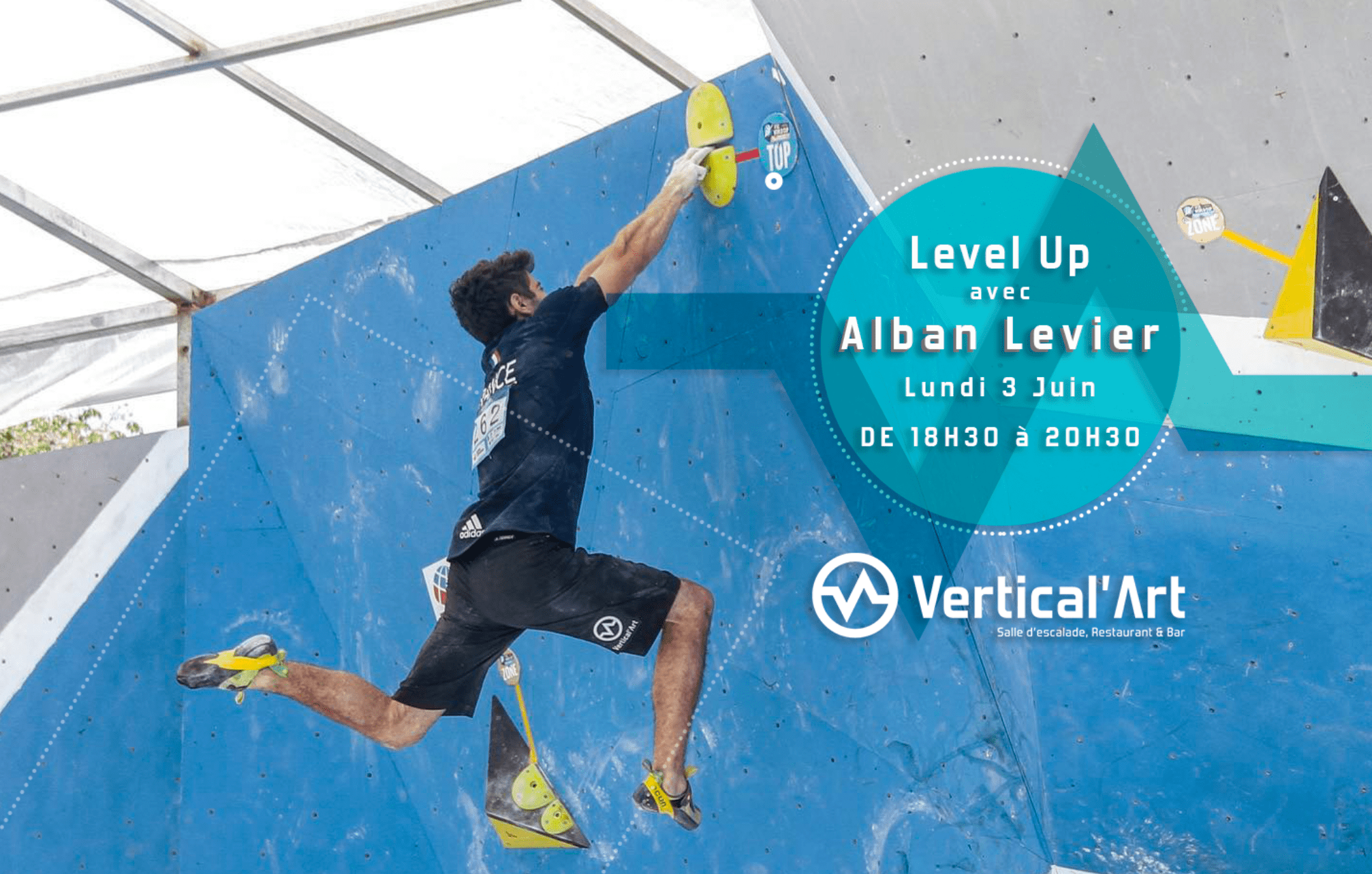 master class Alban Levier - champion d'escalade de bloc - progresser sport - motivation