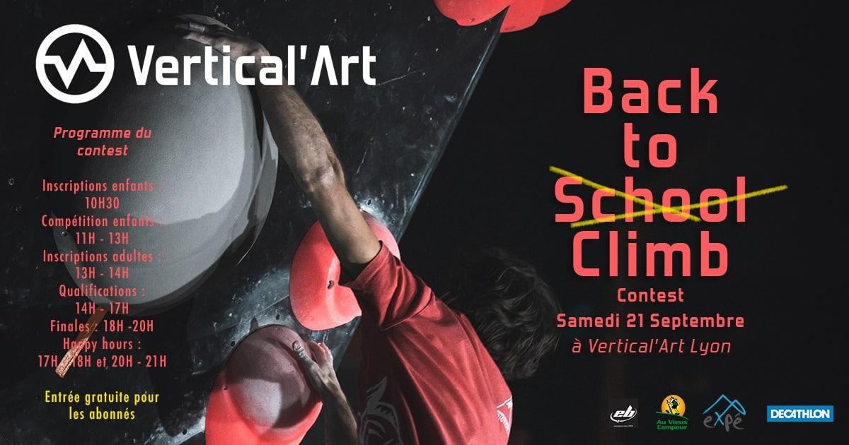 compétition d'escalade à Vertical'Art lyon - jeune - adultes dans votre salle d'escalade de bloc