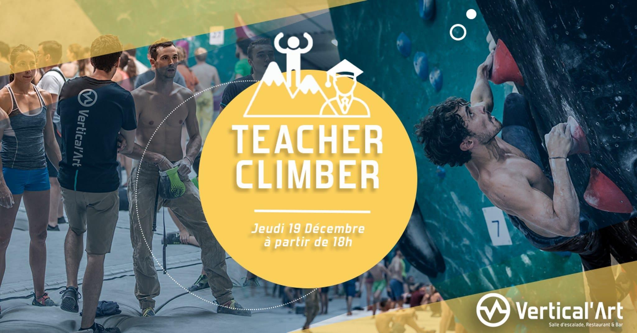 soirée encadrant lyon - Vertical'Art lyon - salle d'escalade restaurant bar - teacher climber - coaching gratuits