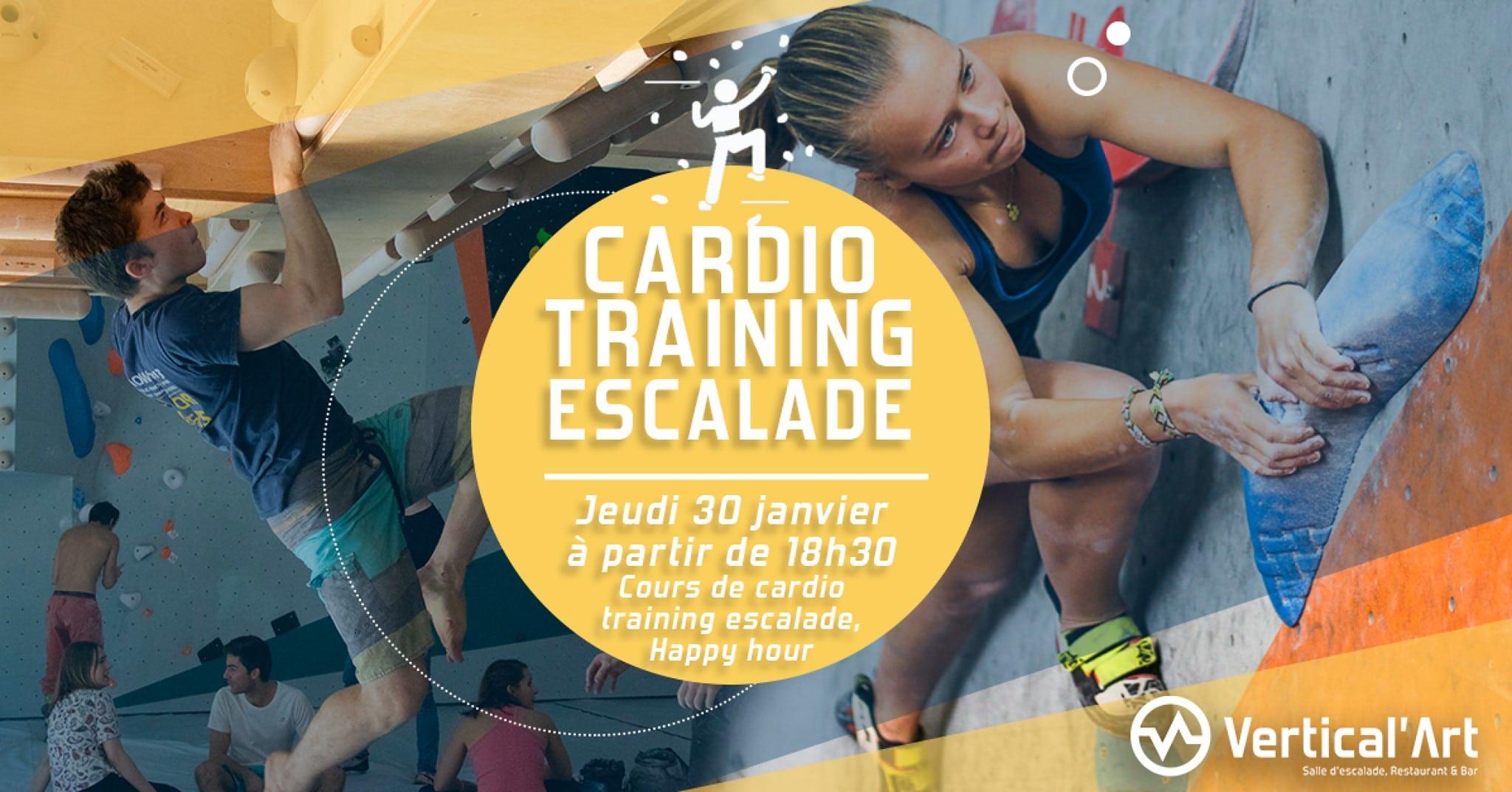 soirée cardio-training à lyon - entrainement grimpe - musculation - sport - Vertical'Art Lyon salle d'escalade de bloc restaurant et bat