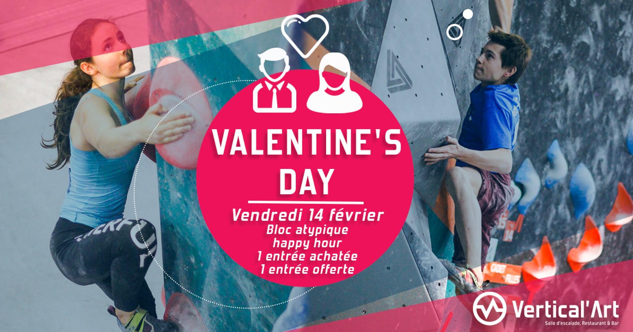 Soirée saint Valentin à Lyon - Vertical'art Lyon organise une soirée speciale st valentin - saint valentin sportive - romantisme - amour à Lyon -