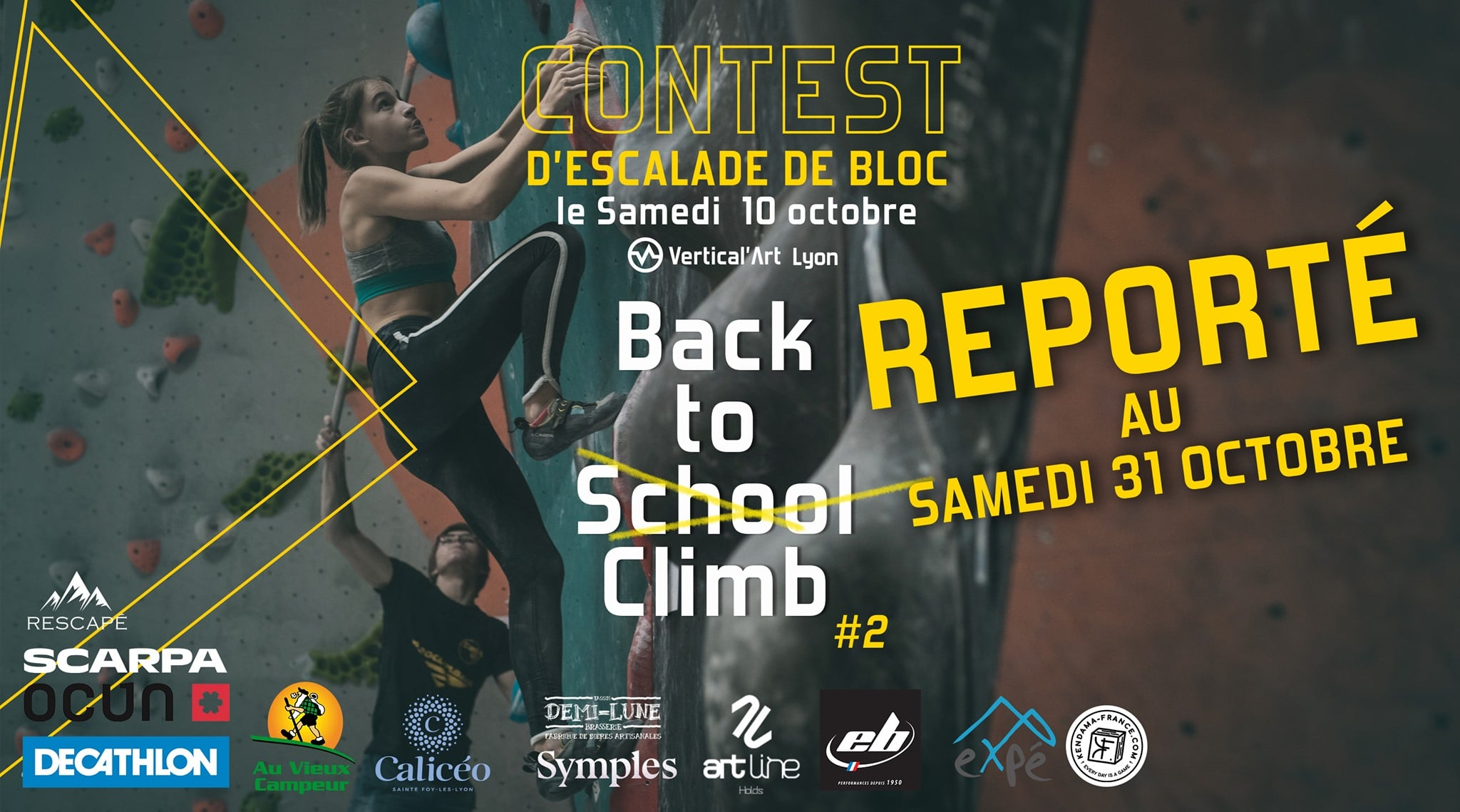 back to climb contest de rentrée, entrée gratuite pour tous nos abonnés, avec happy hour et dj set