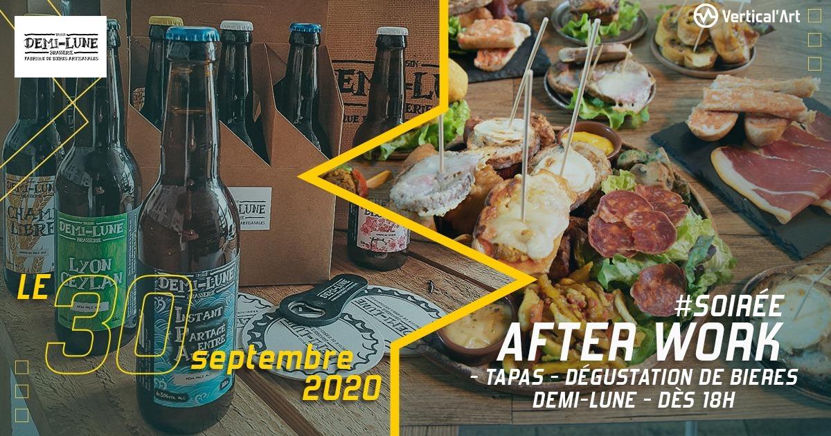 soirée after work à Vertical'Art Lyon, avec au menu assortiment de tapas à partager et une dégustation de bières locales et artisanales