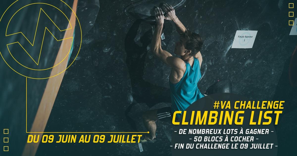 climbing list à Vertical'Art Lyon challenge escalade salle d'escalade restaurant et bar